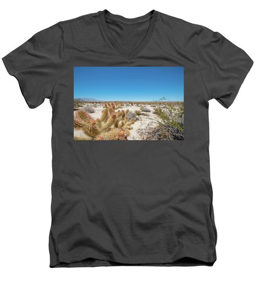 Teddy Bear Cactus Men's V-Neck T-Shirt