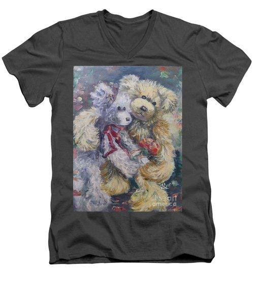 Teddy Bear Honeymooon Men's V-Neck T-Shirt
