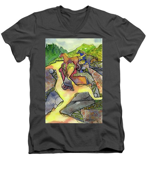 Tevis Ponies Men's V-Neck T-Shirt