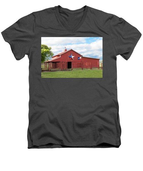 Texas Red Barn Men's V-Neck T-Shirt