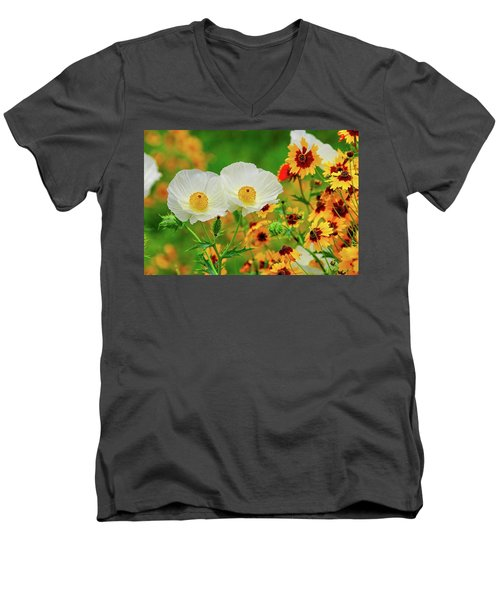 Texas Wildflowers Men's V-Neck T-Shirt
