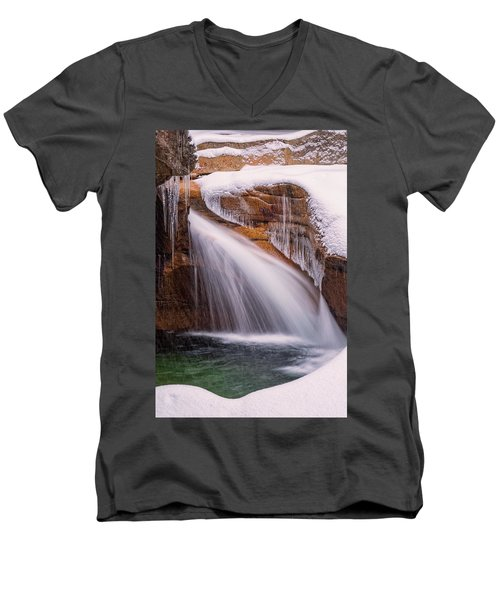 The Basin, Close Up In A Winter Storm Men's V-Neck T-Shirt