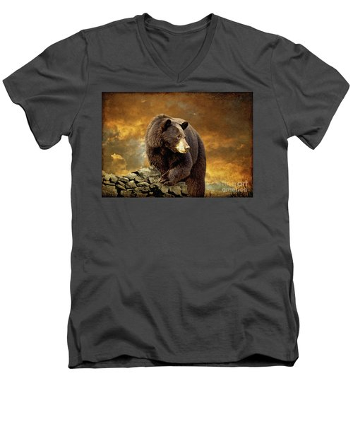The Bear Went Over The Mountain Men's V-Neck T-Shirt