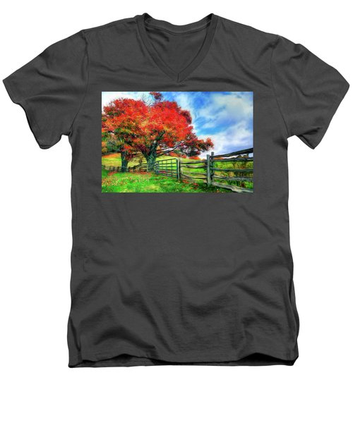 The Beauty Of A Blue Ridge Autumnl Ap Men's V-Neck T-Shirt