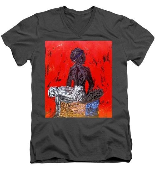 The Blood Hot Fantasy Men's V-Neck T-Shirt