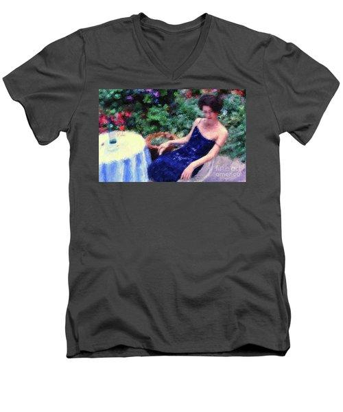 The Blue Dress Men's V-Neck T-Shirt