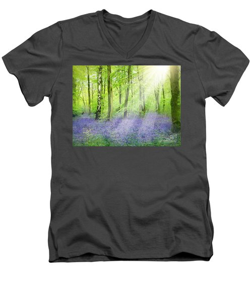 The Bluebell Woods Men's V-Neck T-Shirt