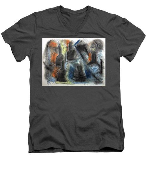The Bottle Attacks Men's V-Neck T-Shirt