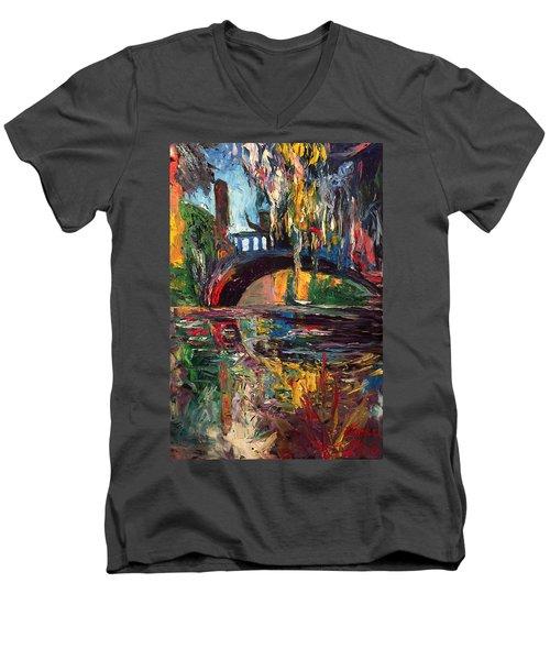 The Bridge At City Park New Orleans Men's V-Neck T-Shirt