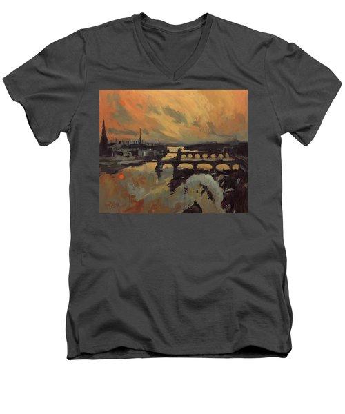 The Bridges Of Maastricht Men's V-Neck T-Shirt