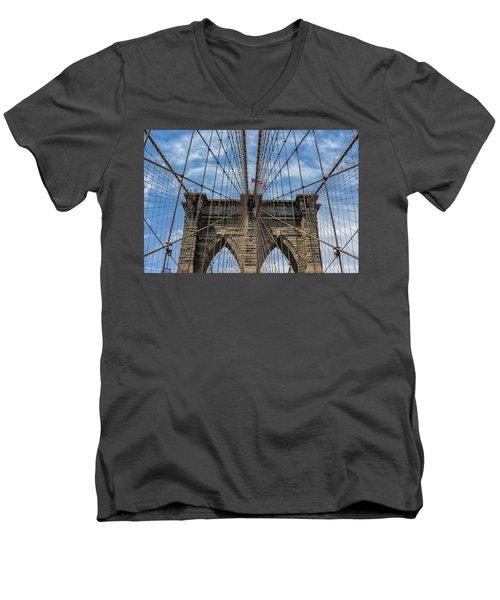 The Brooklyn Bridge Men's V-Neck T-Shirt