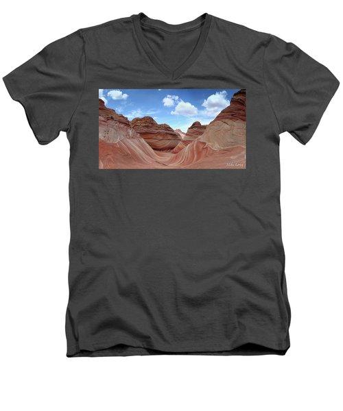 The Classic Wave Men's V-Neck T-Shirt
