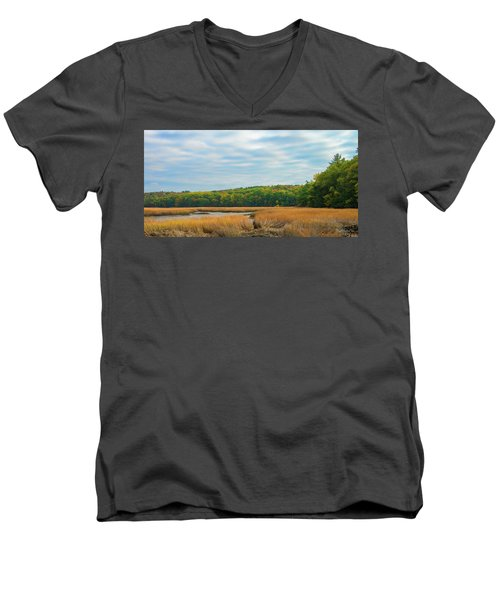 Men's V-Neck T-Shirt featuring the photograph The Color Of Edgecomb by Tim Kathka