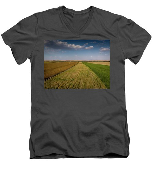 The Colored Fields Men's V-Neck T-Shirt