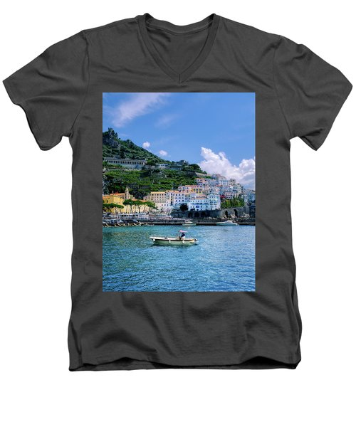 The Colorful Amalfi Coast  Men's V-Neck T-Shirt