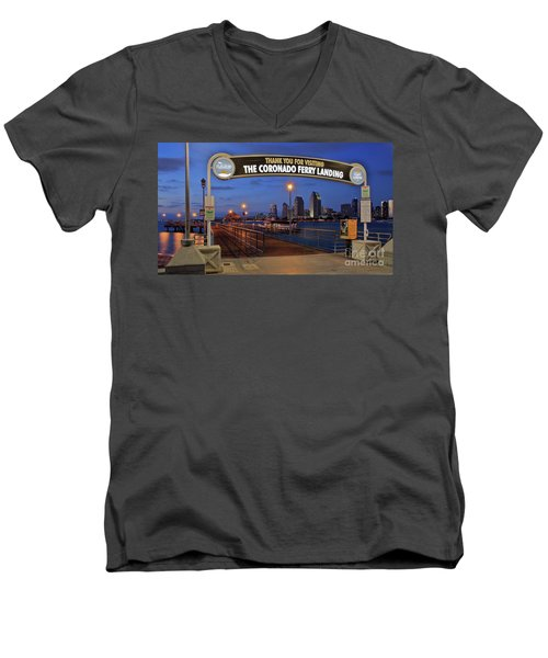 The Coronado Ferry Landing Men's V-Neck T-Shirt