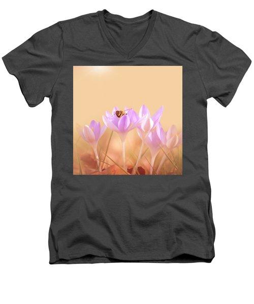 The Earth Blooms Men's V-Neck T-Shirt