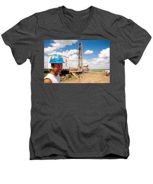 The Gas Man Men's V-Neck T-Shirt