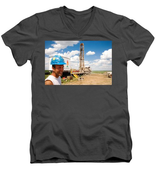 The Gas Man Men's V-Neck T-Shirt