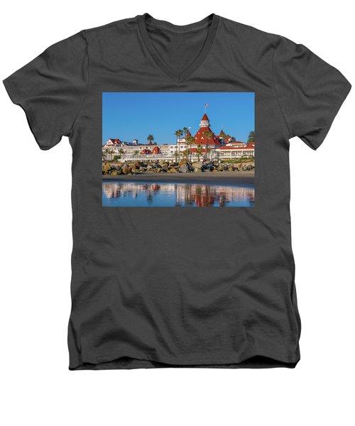 The Hotel Del Coronado San Diego Men's V-Neck T-Shirt