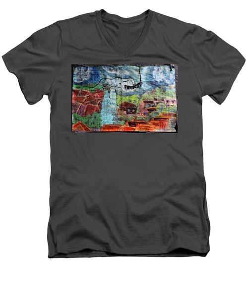 The Hues Brightened Life Seems Good Men's V-Neck T-Shirt