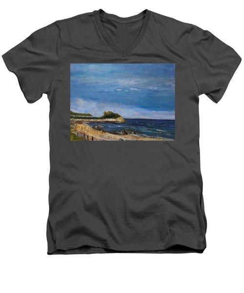 The Knob, Falmouth Men's V-Neck T-Shirt