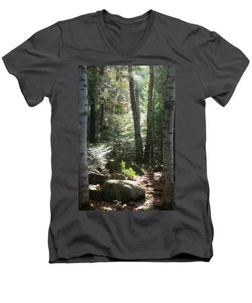 The Living Forest Men's V-Neck T-Shirt