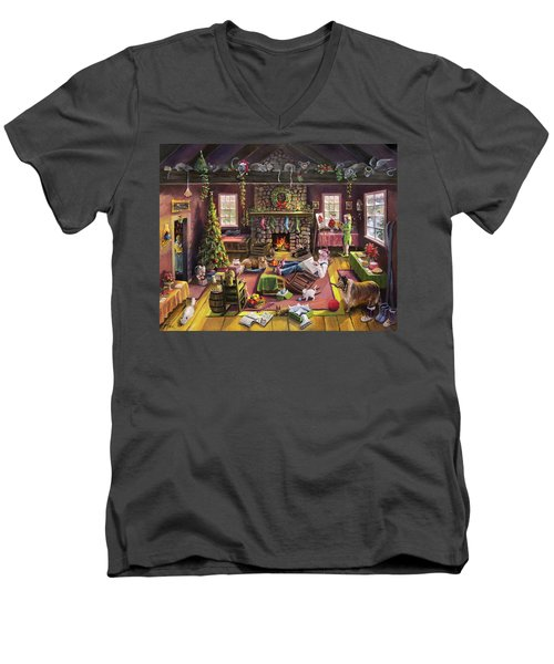 The Micey Christmas Heisty Men's V-Neck T-Shirt