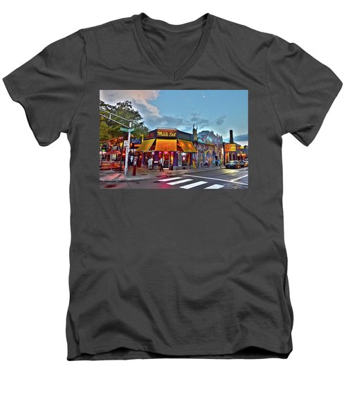 The Middle East In Cambridge Central Square Dusk Men's V-Neck T-Shirt