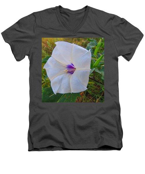 The Perfect Flower - Sacred Datura Men's V-Neck T-Shirt