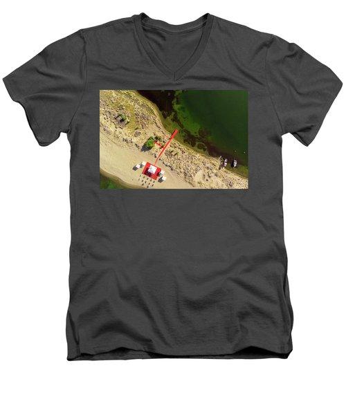 The Red Men's V-Neck T-Shirt