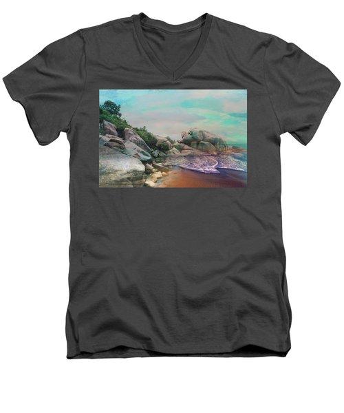 The Rising Tide Montage Men's V-Neck T-Shirt