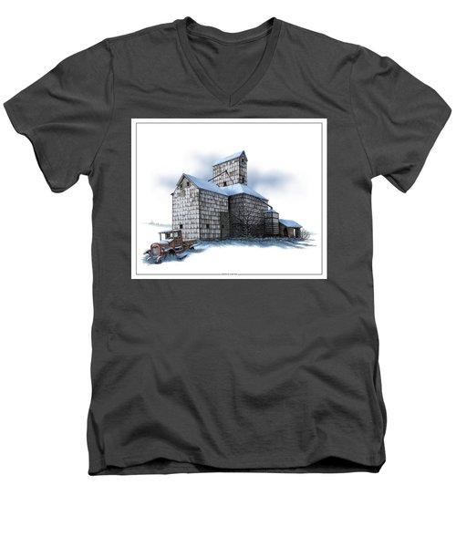 The Ross Elevator Winter Men's V-Neck T-Shirt