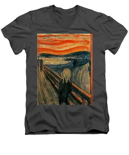 The Scream  Men's V-Neck T-Shirt