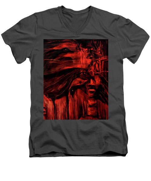 The Shap Shifters Call Men's V-Neck T-Shirt
