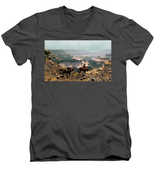 The Sinking Earth Men's V-Neck T-Shirt