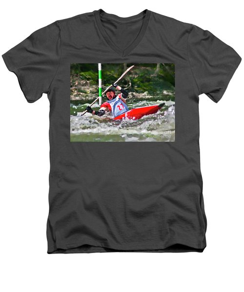 The Slalom Men's V-Neck T-Shirt
