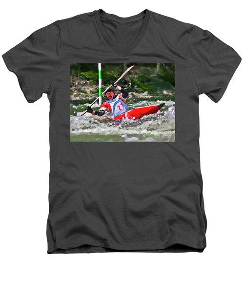 The Slalom Men's V-Neck T-Shirt