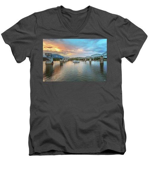 The Southern Belle Between The Bridges  Men's V-Neck T-Shirt