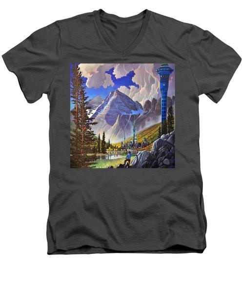 The Three Towers Men's V-Neck T-Shirt