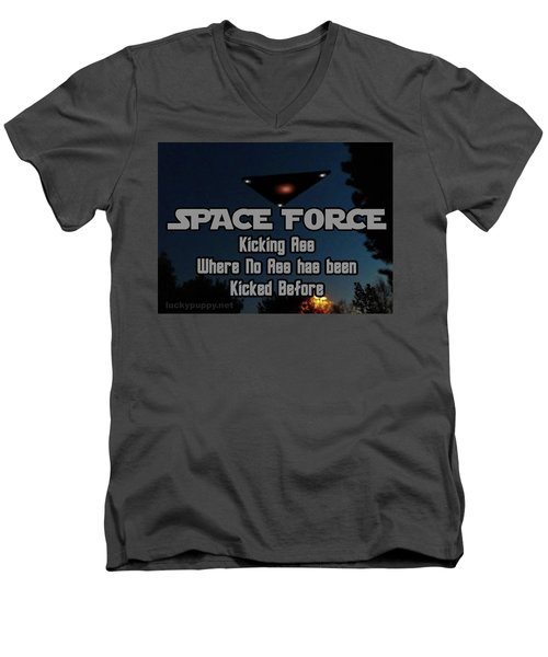 The United States . Space Force Men's V-Neck T-Shirt