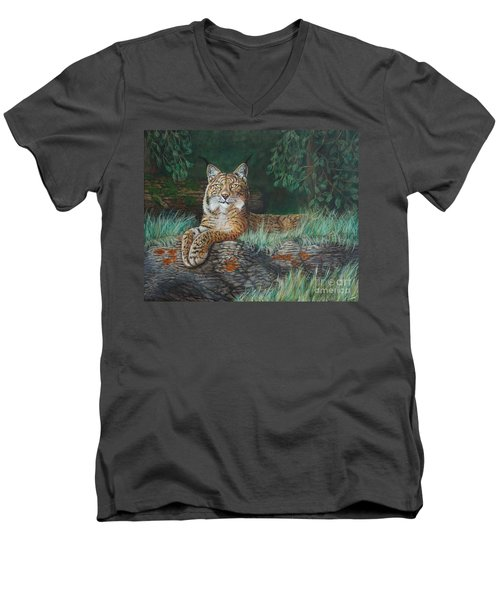The Wild Cat  Men's V-Neck T-Shirt