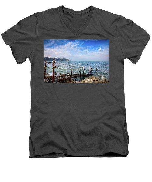 The Winter Sea #2 Men's V-Neck T-Shirt
