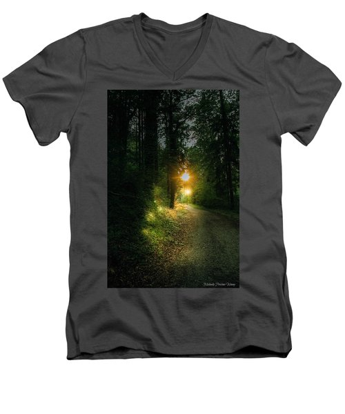 There Is Always A Light Men's V-Neck T-Shirt