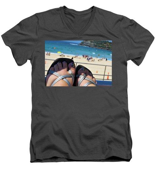 Thongs On Bondi 2 Men's V-Neck T-Shirt