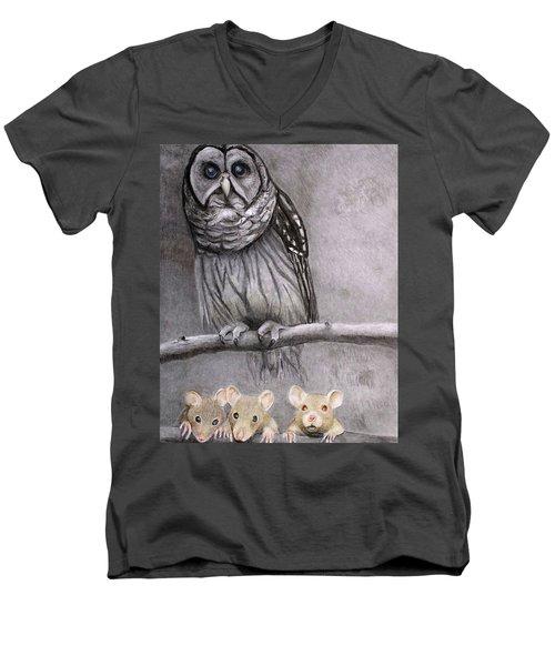 Three Blind Mice Men's V-Neck T-Shirt