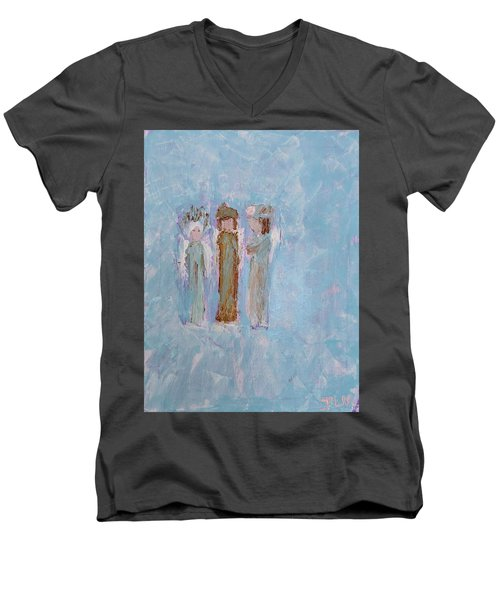 Three Friendly Angels Men's V-Neck T-Shirt