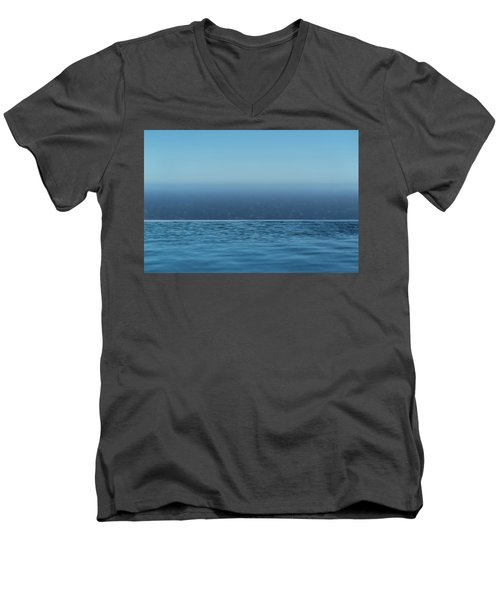Three Layers Of Blue Men's V-Neck T-Shirt