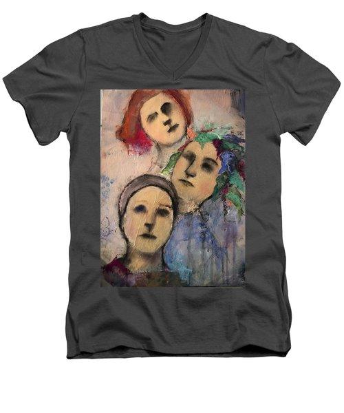 Threes Men's V-Neck T-Shirt