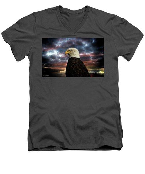 Thunder Eagle Men's V-Neck T-Shirt